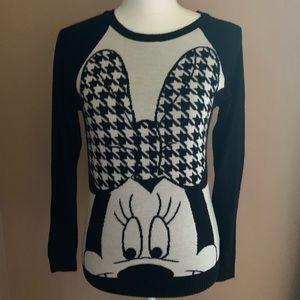 Disney Minnie Mouse argyle plaid sweater